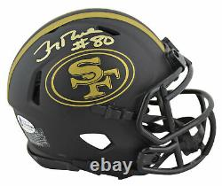 49ers Jerry Rice Authentic Signed Eclipse Speed Mini Helmet BAS Witnessed