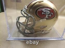 49ers Jerry Rice Authentic Signed Mini Helmet Autograph Certified PSA/DNA