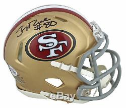 49ers Jerry Rice Authentic Signed Speed Mini Helmet Autographed BAS Witnessed