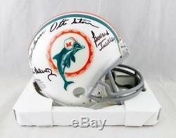 72 Dolphins Autographed TB Mini Helmet with 9 Signatures- JSA W Auth Dolphins 1