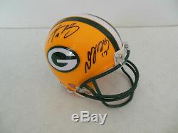 AARON RODGERS & DAVANTE ADAMS SIGNED GREEN BAY PACKERS MINI HELMET withCOA