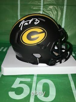 Aaron Rodgers #12 Autographed Signed Green Bay Packers ECLIPSE Mini Helmet COA