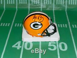 Aaron Rodgers, Green Bay Packers Autographed, Signed Riddell Mini Helmet. COA