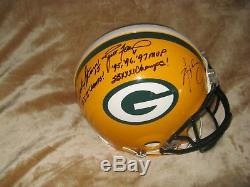 Aaron Rodgers Green Bay Packers signed autographed mini helmet COA Auto