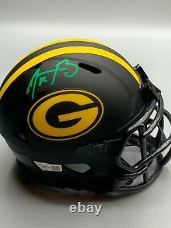 Aaron Rodgers, Packers MVP Signed Riddell ECLIPSE Mini Helmet With Fanatics COA