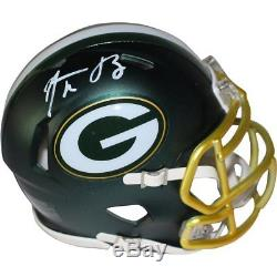 Aaron Rodgers Personally-Signed Authentic Green Bay Packers Blaze Mini Helmet