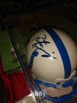 All Three Peyton Manning Mini Helmets Autographed Authenticated