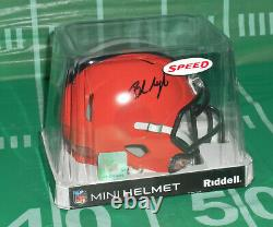 Baker Mayfield #6 Cleveland Browns Football Autographed, Signed Mini Helmet Coa
