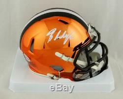 Baker Mayfield Signed Cleveland Browns Chrome Mini Helmet Beckett Auth White