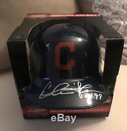 Charlie Sheen Autographed Signed Mini Indians Helmet With COA
