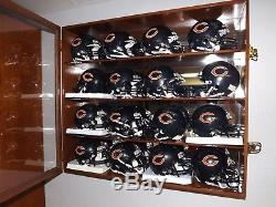 Collection of Entire 1985 Chicago Bears Autographed Mini Helmets