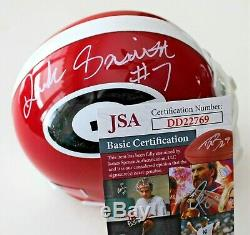 D'Andre Swift Signed Red Georgia Bulldogs Mini Helmet withJSA COA DD22769 C