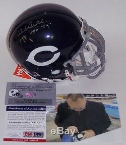 DICK BUTKUS HAND SIGNED CHICAGO BEARS AUTHENTIC MINI HELMET withPIC HOF 79 PSA/DNA