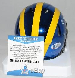 Desmond Howard Signed Autographed Michigan Wolverines Chrome Mini Helmet Jsa