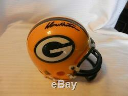Don Hutson #14 Green Bay Packers Signed Mini Helmet Only One! The Rarest
