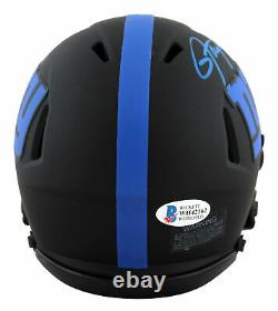 Giants Lawrence Taylor Authentic Signed Eclipse Speed Mini Helmet BAS Witnessed