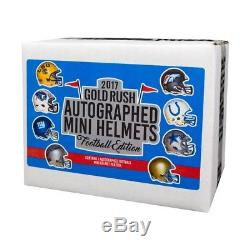 Gold Rush Autographed Mini Helmets Football NFL Edition Box 2017