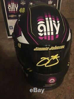 Jimmie Johnson AUTOGRAPHED SIGNED #48 2019 ALLY FINANCIAL Mini Helmet Hendrick