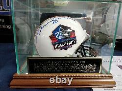 Johnny Unitas Hall of Fame mini Helmet Autographed Signed with Beckett COA