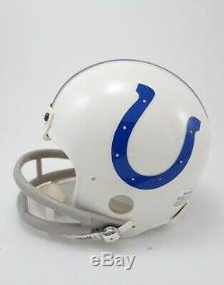 Johnny Unitas Signed Mini Helmet BOLD AUTO 2-Bar Facemask Joe Namath JSA