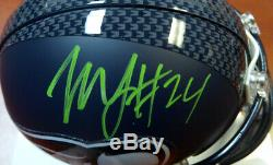 Marshawn Lynch Autographed Signed Seahawks Mini Helmet In Green ML Holo 106235