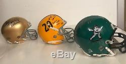 Mini Helmet Heisman Trophy Winners Collection, Autographed withCOA App. Value $30K