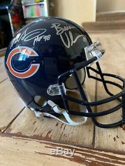 Monsters Of The Midway Autographed/Signed Mini Helmet Chicago Bears Urlacher