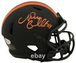 Nick Chubb Autographed/Signed Cleveland Browns Eclipse Mini Helmet BAS 27616