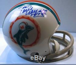 Paul Warfield Signed Autographed Mini Helmet Miami Dolphins HOF 83 withCOA