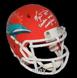 RICKY WILLIAMS SIGNED MIAMI DOLPHINS AMP MINI HELMET With SMOKE WEED EVERYDAY