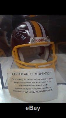 Rare Collectable Sean Taylor Signed Mini Helmet Authentic