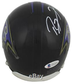 Ravens Ray Lewis Authentic Signed Rep Mini Helmet Autographed BAS Witnessed