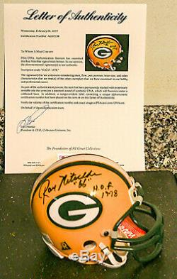 Ray Nitschke Autographed Green Bay Packers Mini Helmet withHOF Insc. PSA Certified