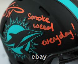 Ricky Williams Signed Dolphins Eclipse Mini Helmet withSWED-Beckett W Auth Orange