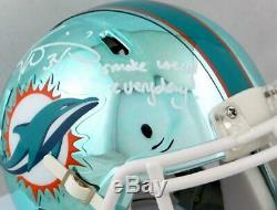 Ricky Williams Signed Miami Dolphins Chrome Mini Helmet With SWED- JSA W Auth
