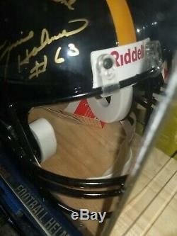 STEEL CURTAIN AUTOGRAPHED signed full size authentic helmet PITTSBURGH STEELERS