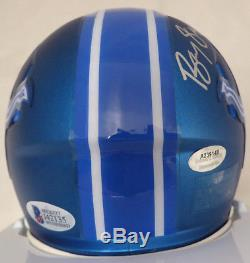 Sale! Barry Sanders Autographed Signed Lions Blue Blaze Mini Helmet Beckett Bas