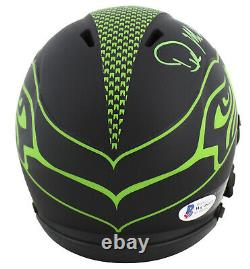 Seahawks D. K. Metcalf Authentic Signed Eclipse Speed Mini Helmet BAS Witnessed