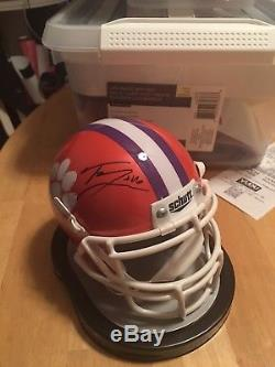 Trevor Lawrence Signed Authentic Clemson Tigers Mini Helmet. National Champions