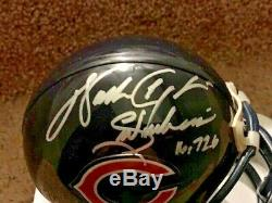 WALTER PAYTON AUTOGRAPHED CHICAGO BEARS MINI HELMET With INSCRIPTION PSA/DNA COA