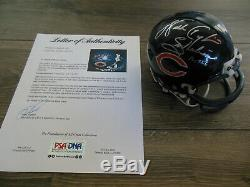 WALTER PAYTON AUTOGRAPHED SIGNED CHICAGO BEARS MINI HELMET withPSA DNA COA