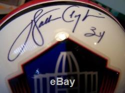 WALTER PAYTON SIGNED AUTOGRAPH HALL OF FAME MINI HELMET With INSCRIPT SWEETNESS