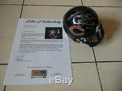 WALTER PAYTON Signed Autographed Chicago Bears Mini Helmet with PSA DNA COA B